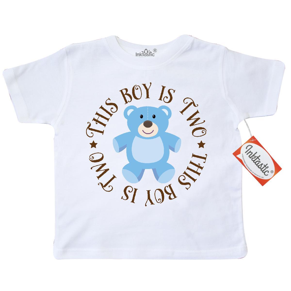 Inktastic 2nd Birthday Boys Teddy Bear Toddler T-Shirt Two
