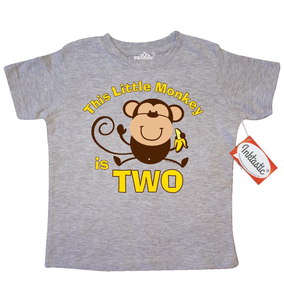 Inktastic Little Monkey 2nd Birthday Boy Toddler T-Shirt