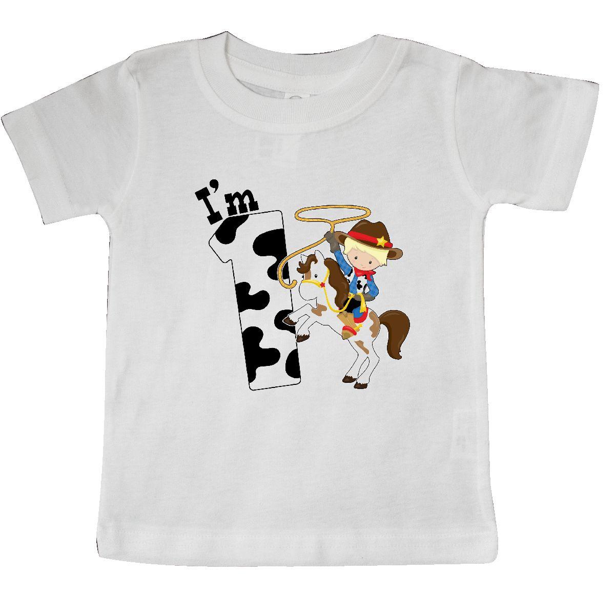 22fb9130 inktastic Inktastic I'm One-cowboy Riding Horse Birthday Baby T-Shirt  Birthdays First 1st