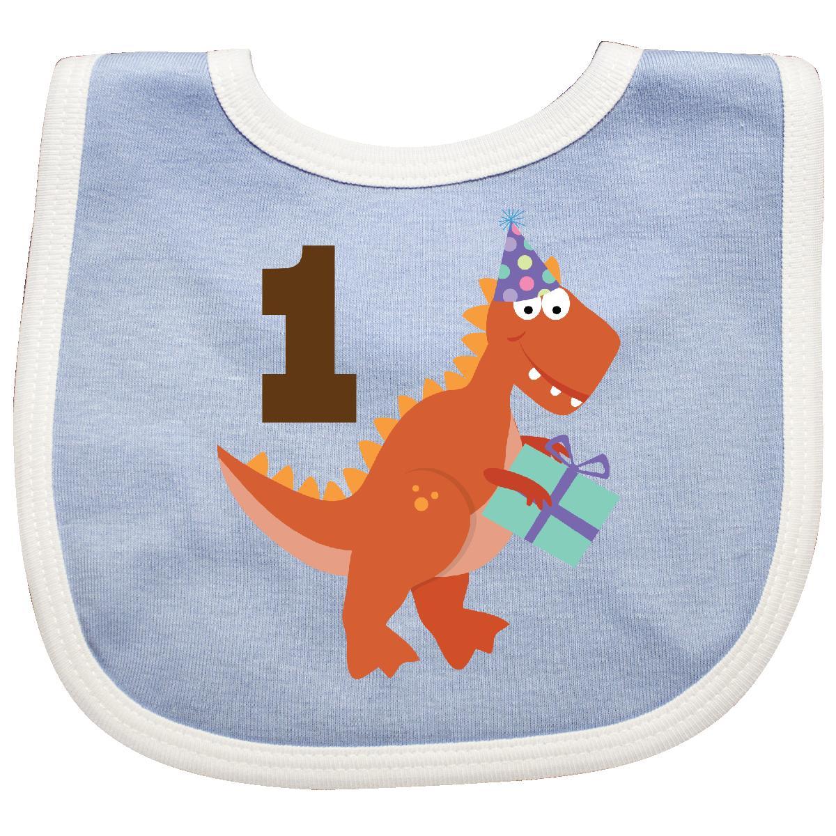 a4fd3f84 inktastic Inktastic 1st Birthday Dinosaur Party Baby Bib First Kids Babys One  Year Old 1