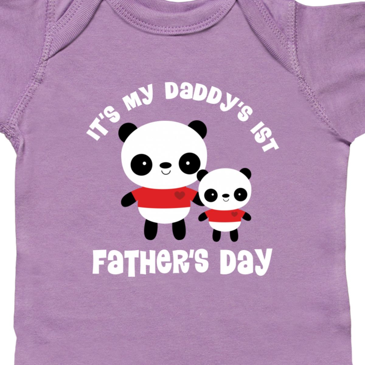 Inktastic Daddys 1st Fathers Day Infant Creeper Babys First Panda Daddy Cute Hws