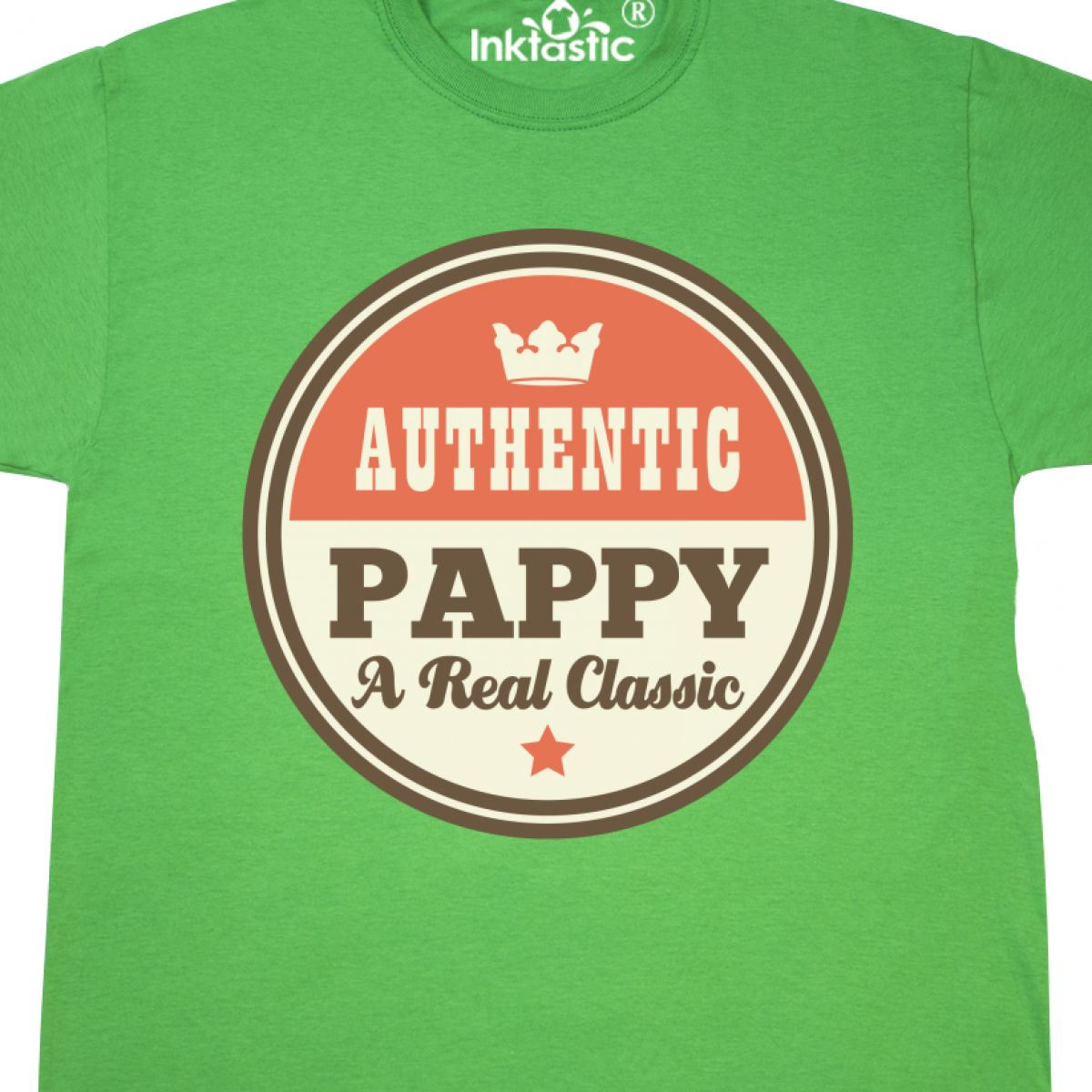 Inktastic Pappy Real Classic T-Shirt Grandpa Dad Fathers Day Family Vintage Gift