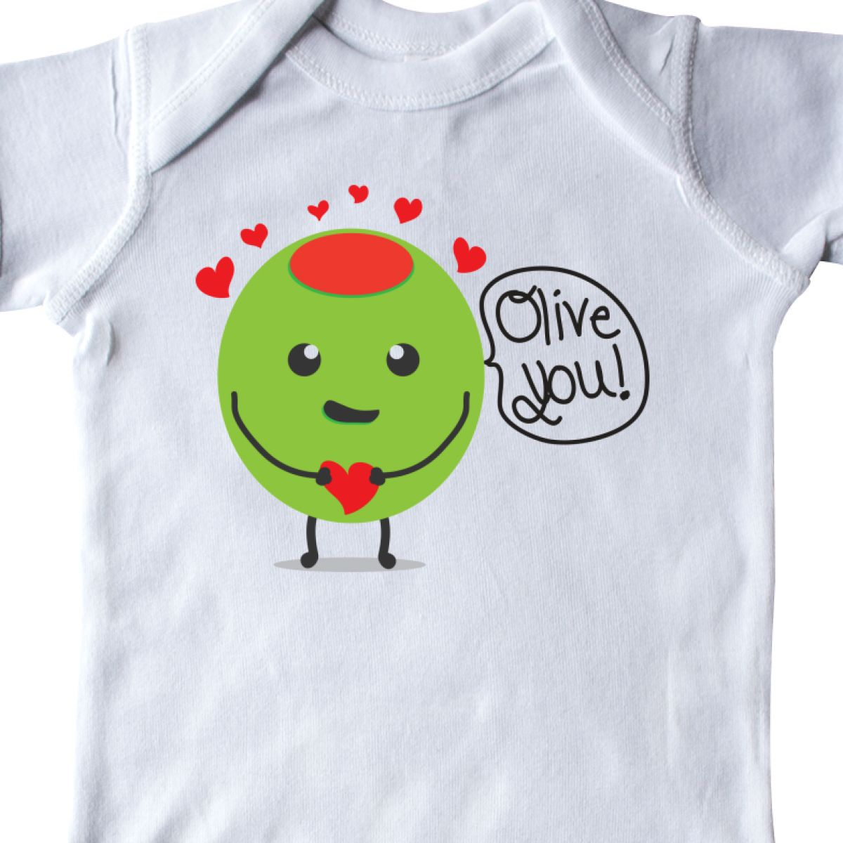 Inktastic Olive You Infant Creeper Love Valentines Cute Humor Day Hearts Red Be