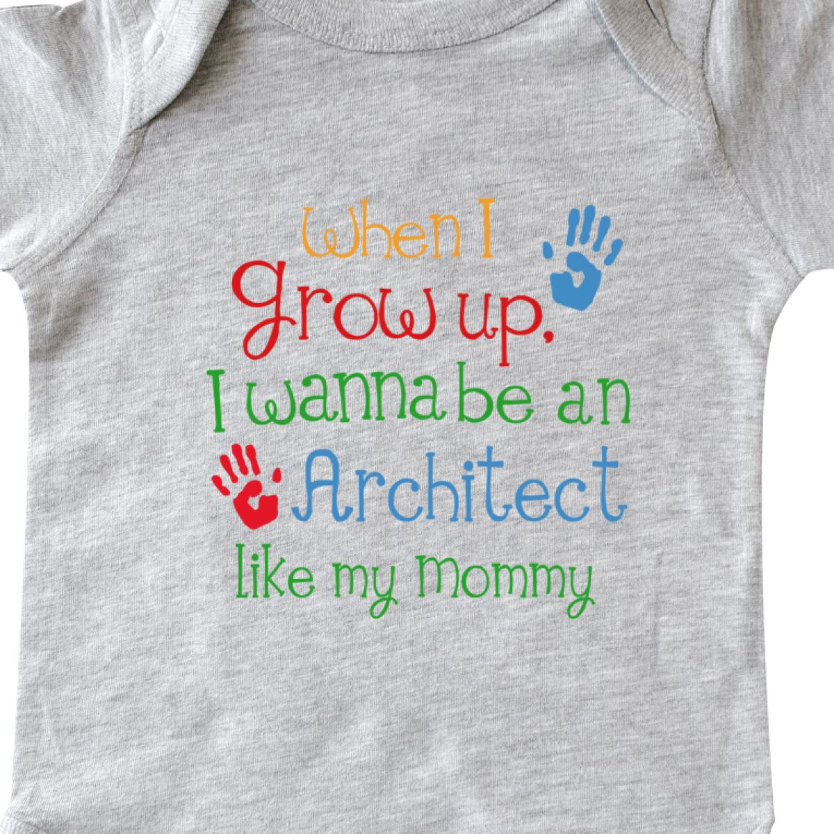 Inktastic Architect Like Mommy Infant Creeper Future Handprints Grow Up Kids Hws