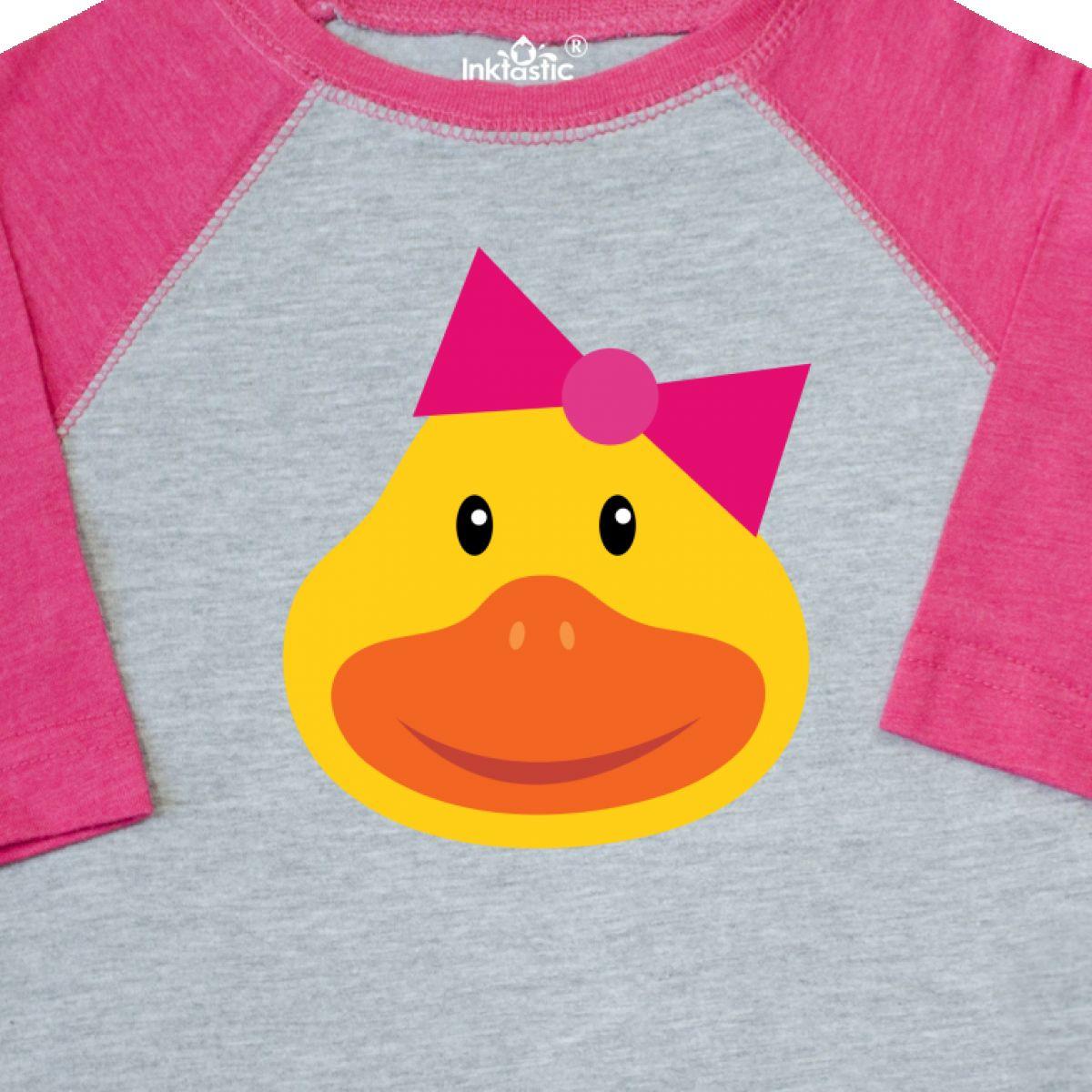Inktastic Duck Girls Toddler T-Shirt Face Girl Cute Ducky Animals Birds Farm Kid