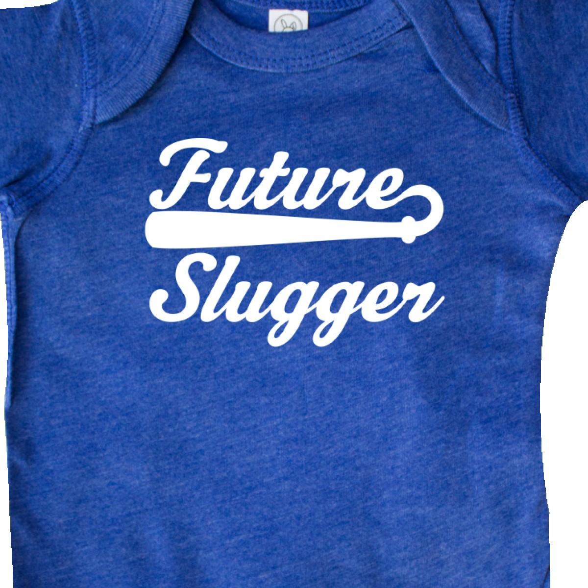 Inktastic Baseball Future Slugger Infant Creeper Sports Player Kids Bat Slogan
