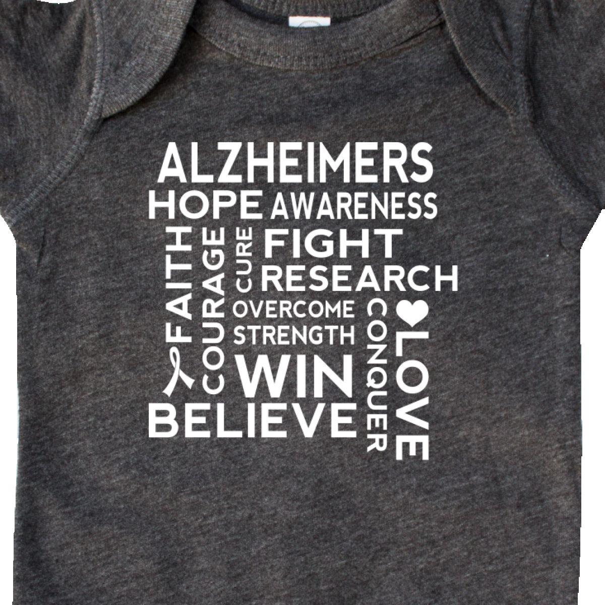 Inktastic Alzheimers Awareness Support Slogan Infant Creeper Disease Dementia