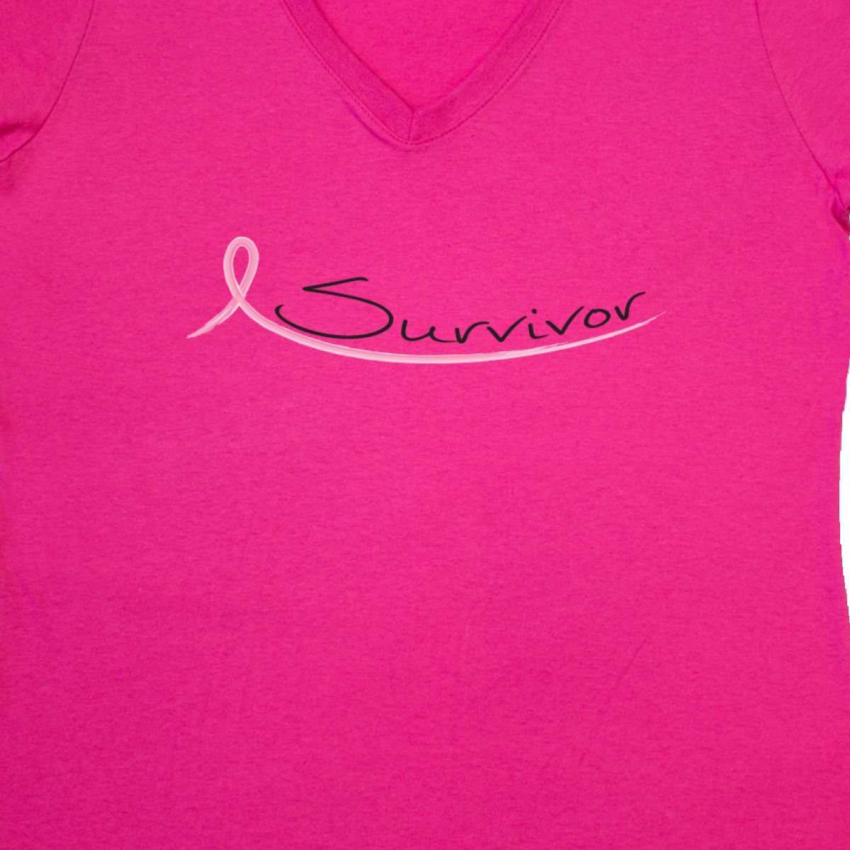 Inktastic Breast Cancer Survivor Pink Ribbon Women/'s V-Neck T-Shirt Chemo Beater