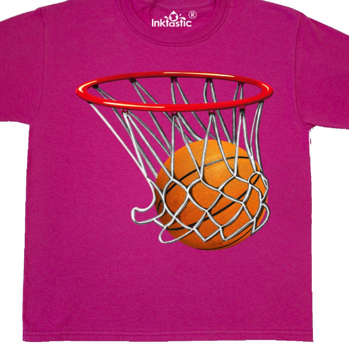 Inktastic Basketball Swish Youth T-Shirt Hoop Shoot Hoops Bball Sports Baller