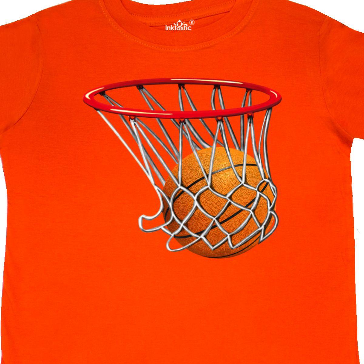 Inktastic Basketball Swish Toddler T-Shirt Hoop Shoot Hoops Bball Athletic Ball