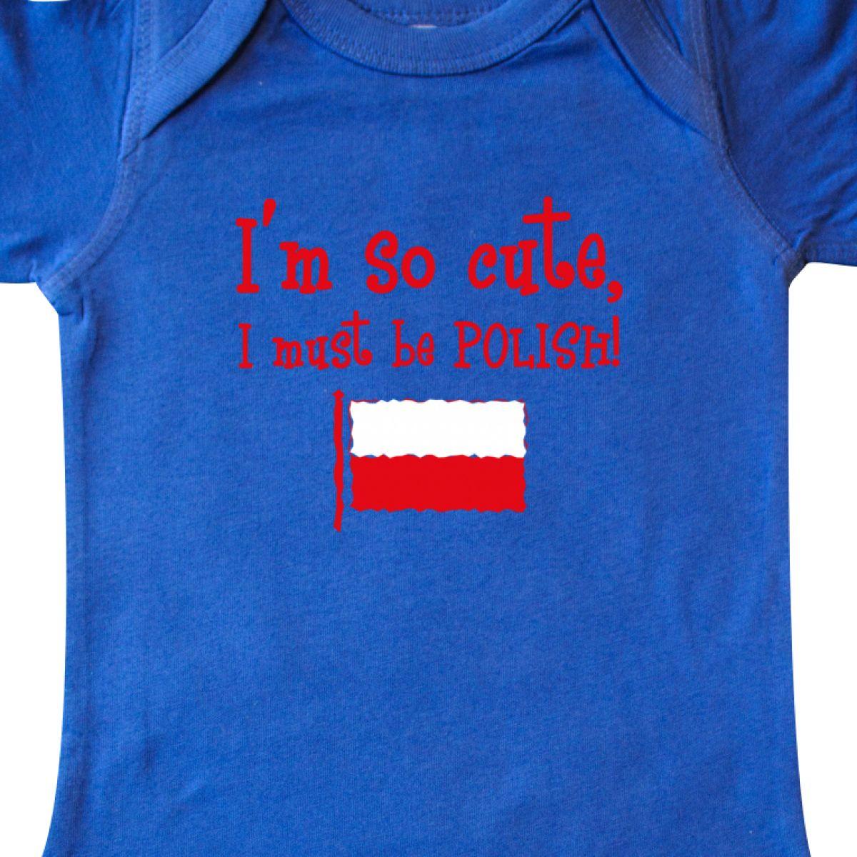 Inktastic So Cute Polish Infant Creeper Im Poland Flag Polska Polski French