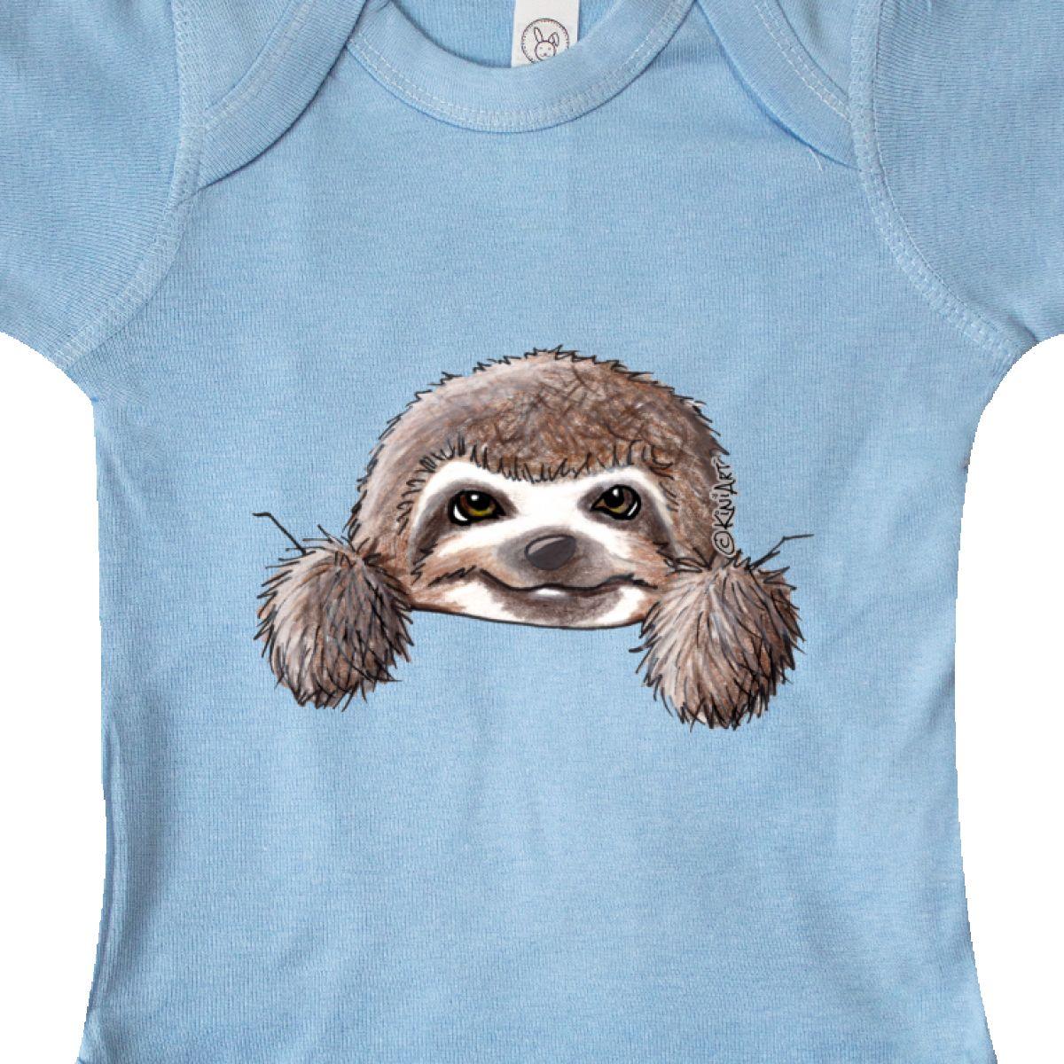 Inktastic KiniArt Sloth Infant Creeper KiniArt Cute Cartoon Art Pocket Rabbit