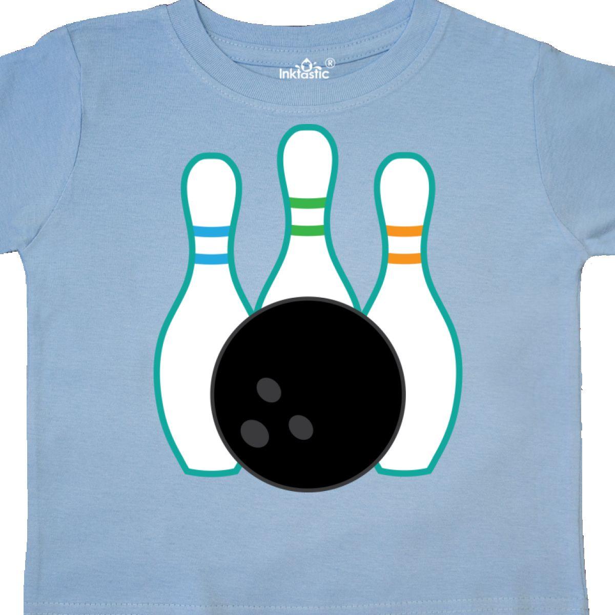 Inktastic Bowling Team Bowler Gift Toddler T-Shirt Pins Ball Bowl Sports Hobbies