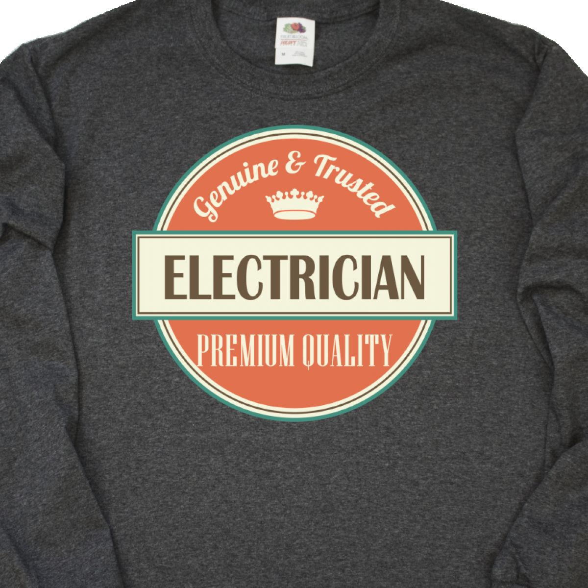 Inktastic Electrician Funny Gift Idea Long Sleeve T-Shirt Retired Occupations