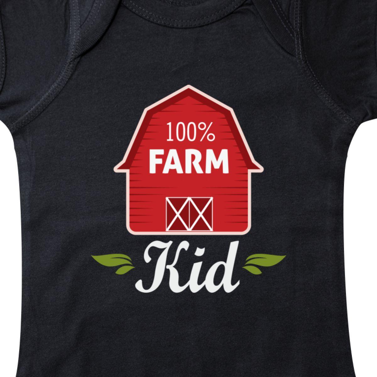 Inktastic 100 Percent Farm Kid Infant Creeper Barn Farmer Boy Girl Childs Cute