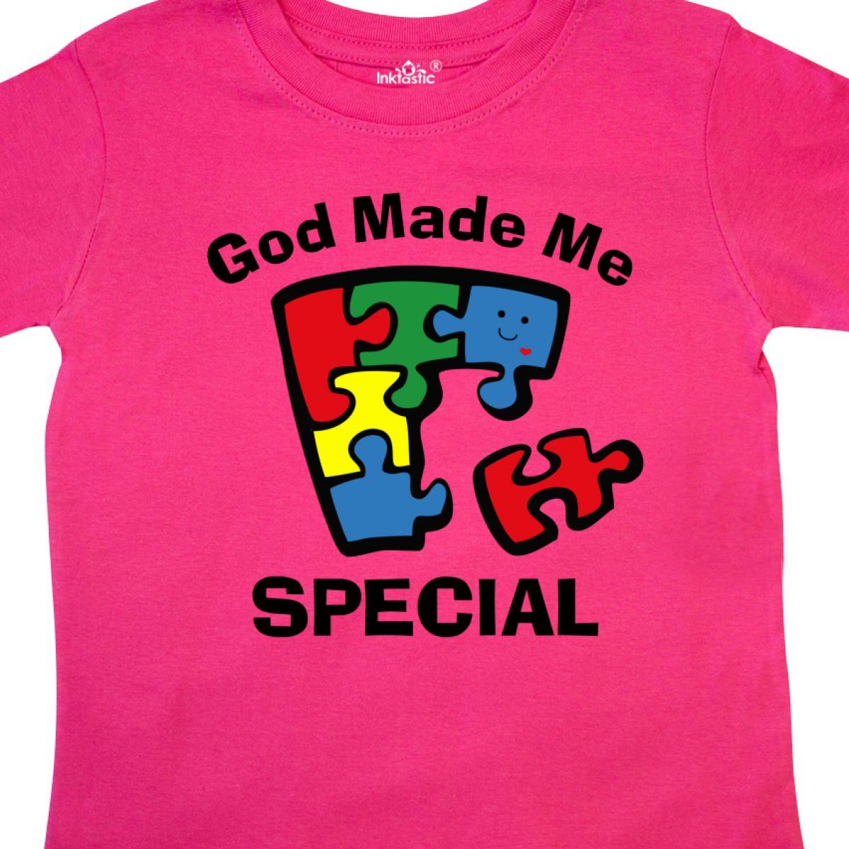 Inktastic Autism God Made Me Special Toddler T-Shirt Awareness Jigsaw Puzzle Im