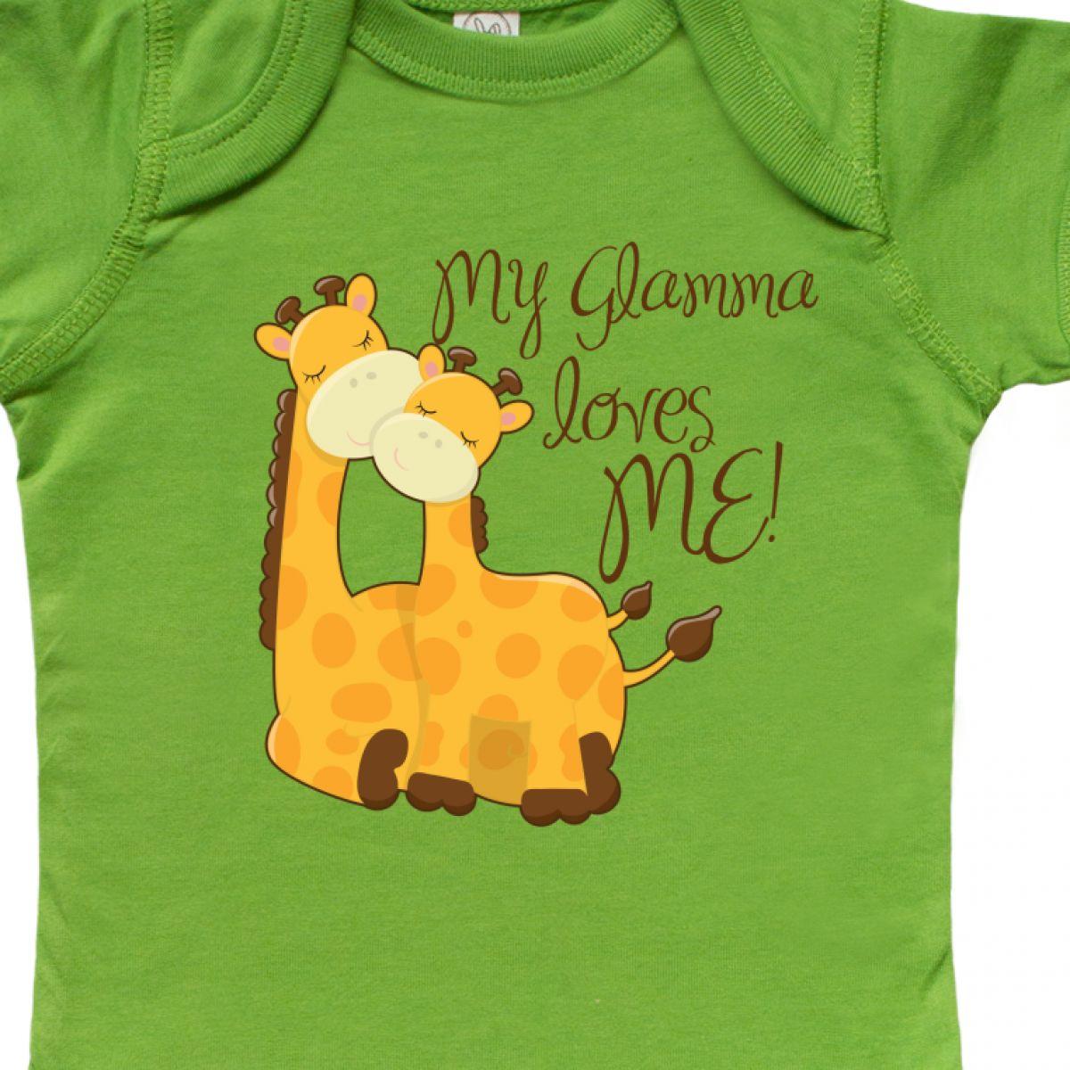 Inktastic My Glamma Loves Me Infant Creeper Grandma Me Giraffe Loved By House