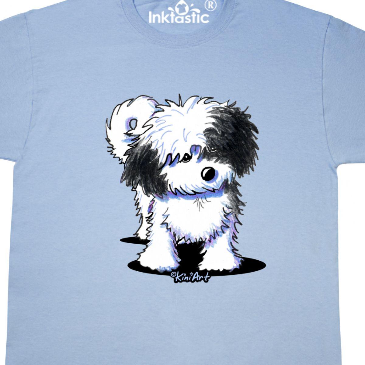KiniArt Dog Breed Art White Cartoon Mens Adult Inktastic B//W Havanese T-Shirt