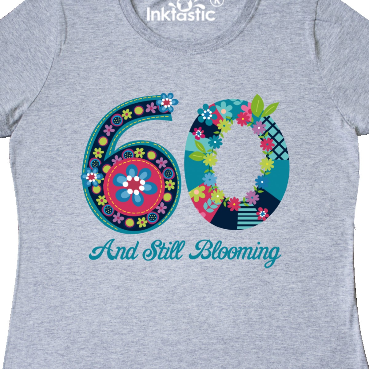 Inktastic Blooming 60th Birthday Women/'s T-Shirt Flower Whimsical Power Garden
