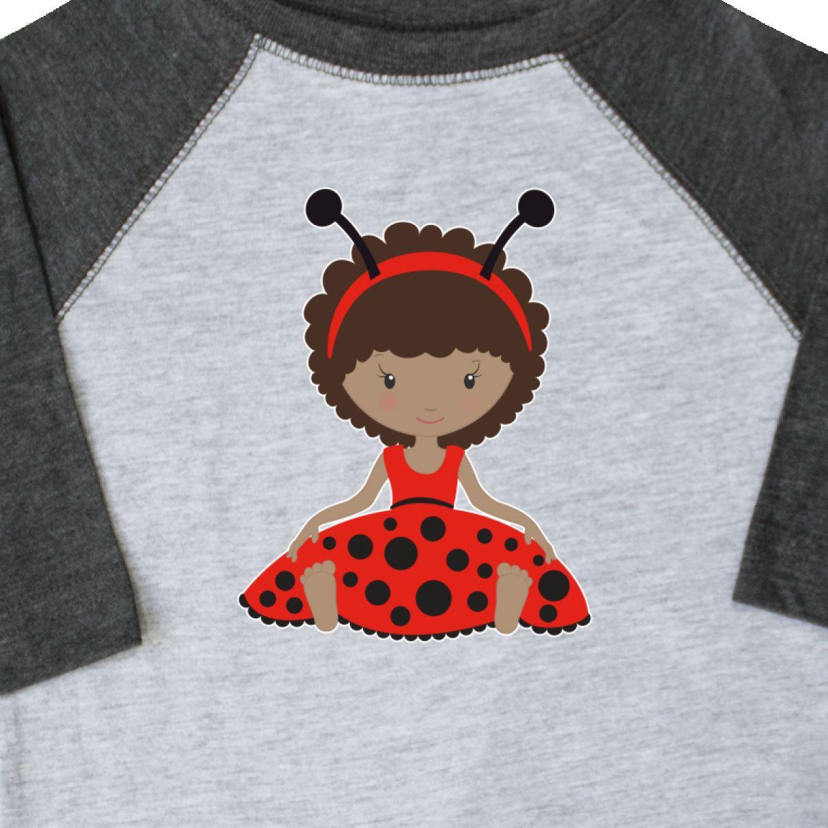 Inktastic Ethnic Ladybug Girl In Red Dress Toddler T-Shirt Antennas Gift Child