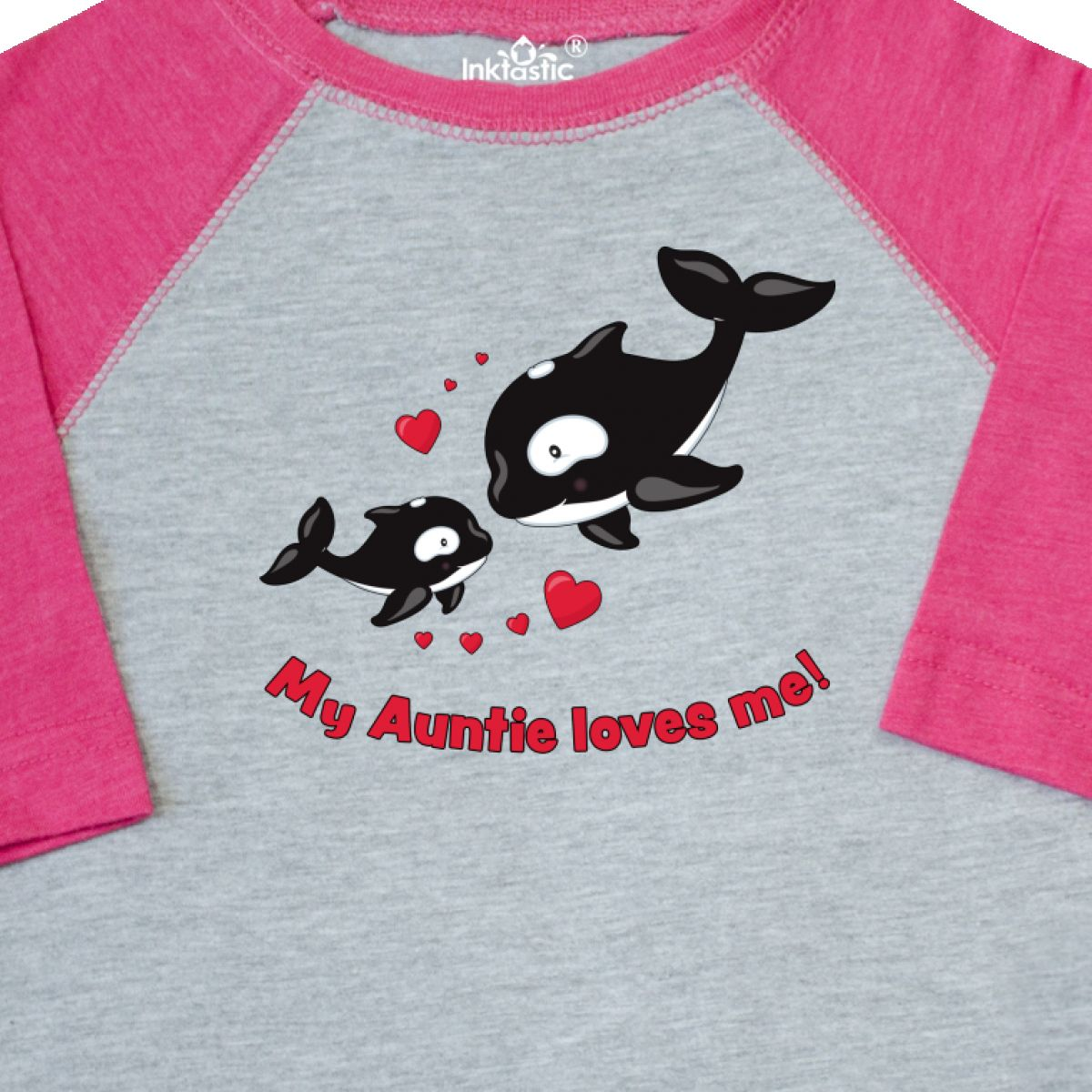 Inktastic My Auntie Loves Me Toddler T-Shirt Family Whales Orca Killer Seaworld