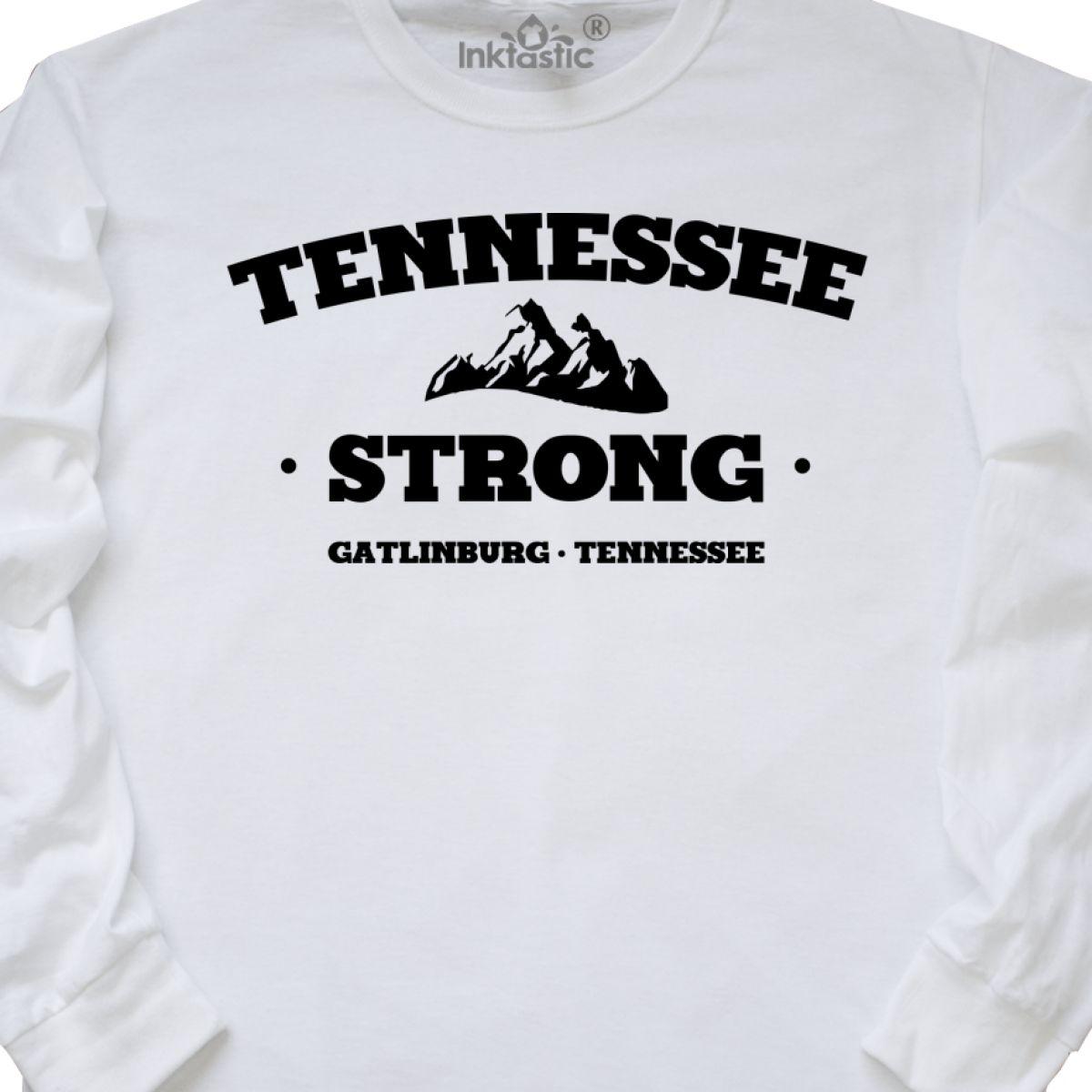 Inktastic Tennessee Strong Gatlinburg Long Sleeve T-Shirt Pray For Mens Adult