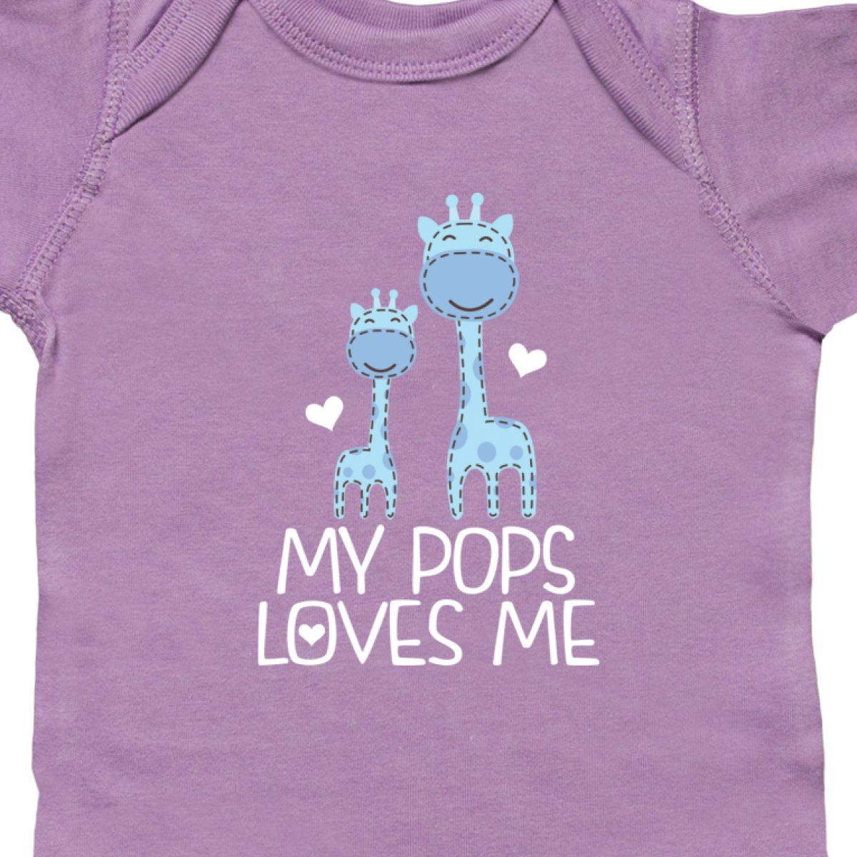 Inktastic My Pops Loves Me Boys Giraffe Grandson Infant Creeper From Grandpa Dad