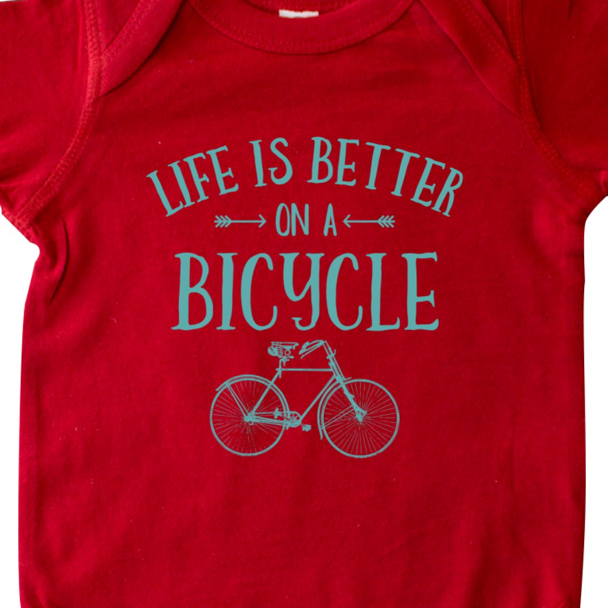 Inktastic Life/'s Better On A Bicycle Infant Creeper Retro Rider Cyclist Ten Cute