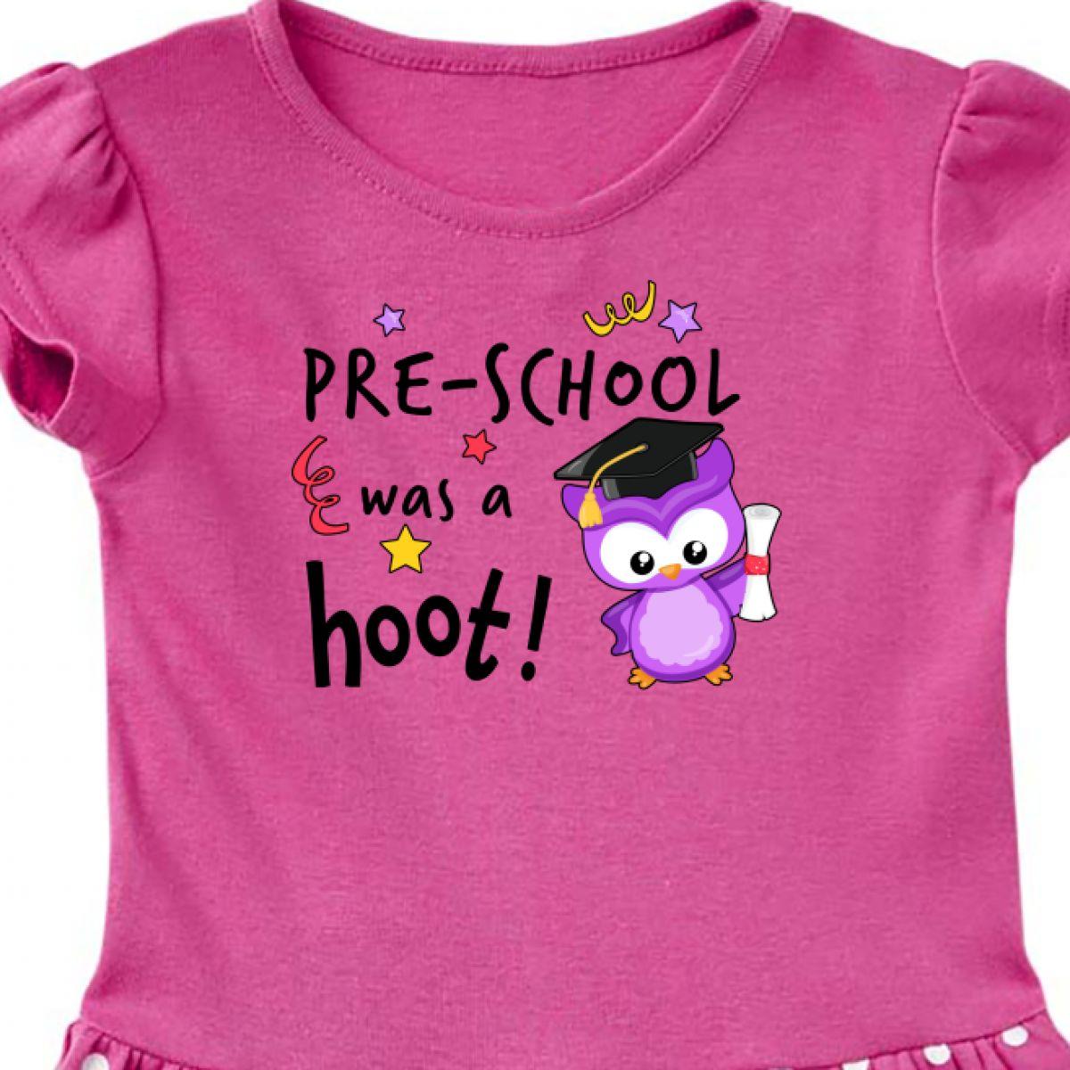 Cute Purple Graduation Owl Toddler Dress Kids Inktastic Pre-School Was A Hoot