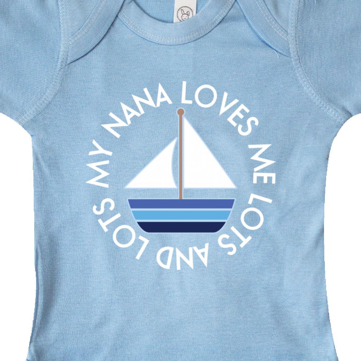 Inktastic My Nana Loves Me Sailboat Boys Infant Creeper From Grandson Grandchild