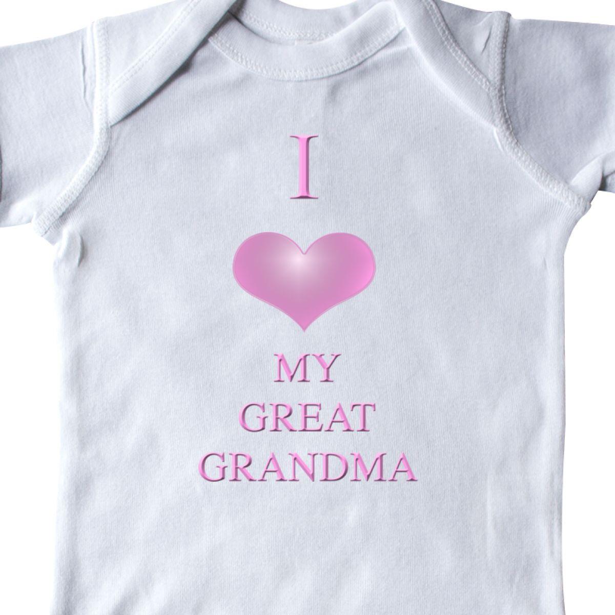 Inktastic I Love My Great Grandma Infant Creeper Heart One-piece