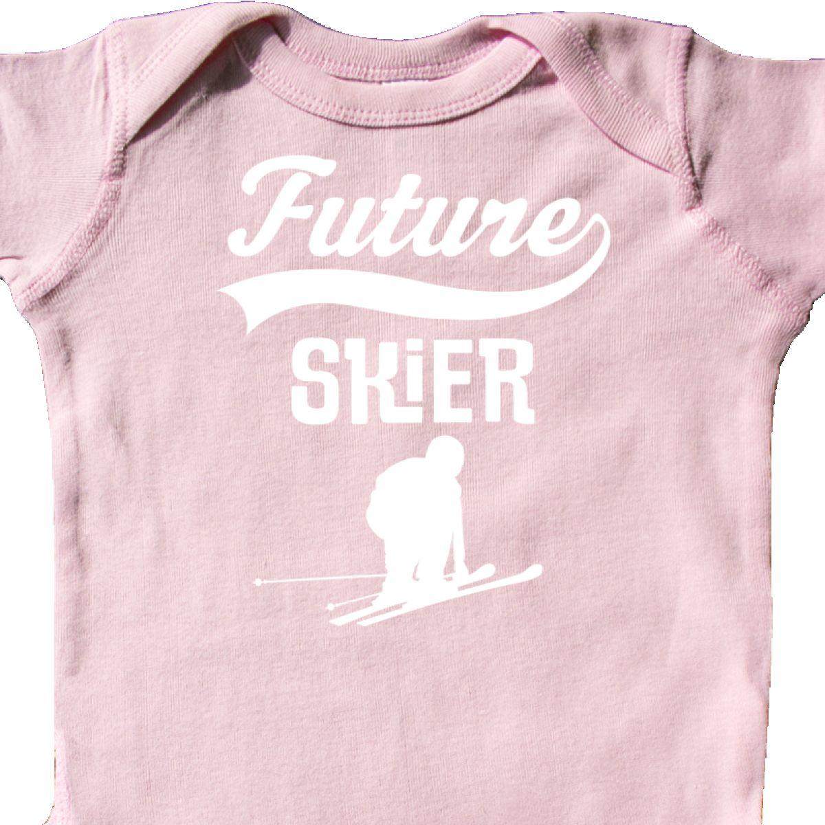 Inktastic Future Skier Childs Skiing Infant Creeper Ski Boys Girls Idea Athletic