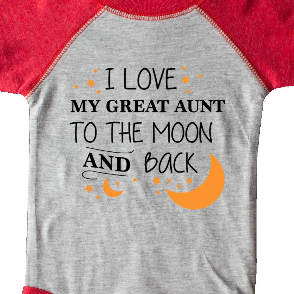 Inktastic I Love My Great Aunt To The Moon And Back Infant Creeper Family You