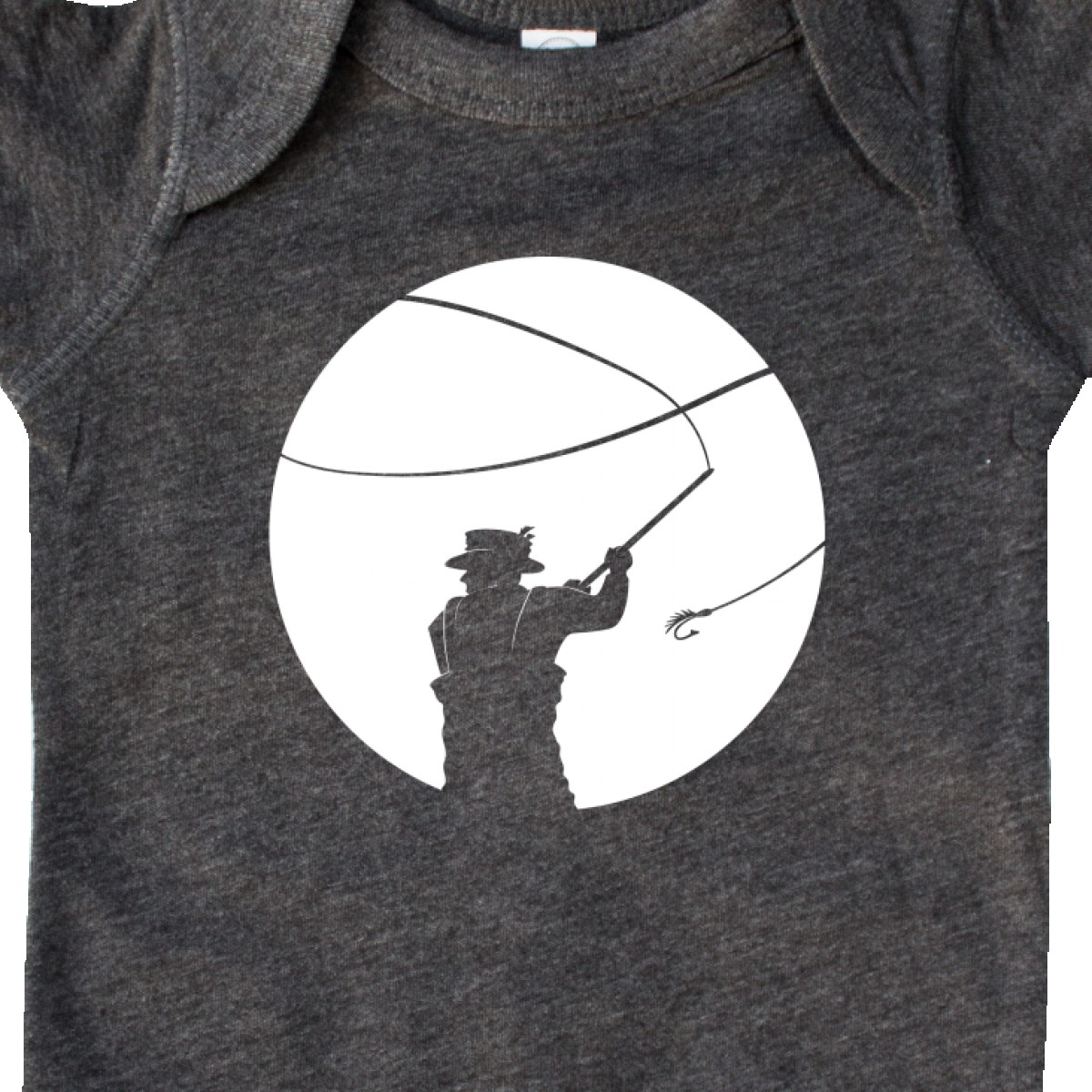 Inktastic Fly Fishing Silhouette Infant Creeper Catch Line Weekend Fathers Day