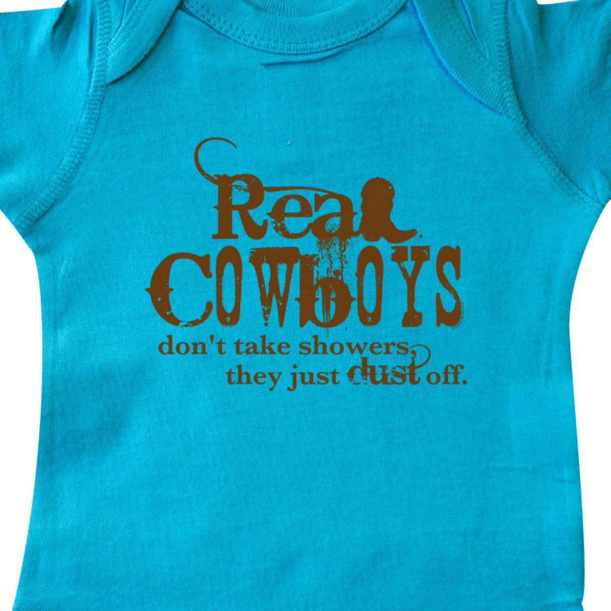 Inktastic Real Cowboys Infant Creeper Cowboy Boots Rodeo Texas Western Wild West