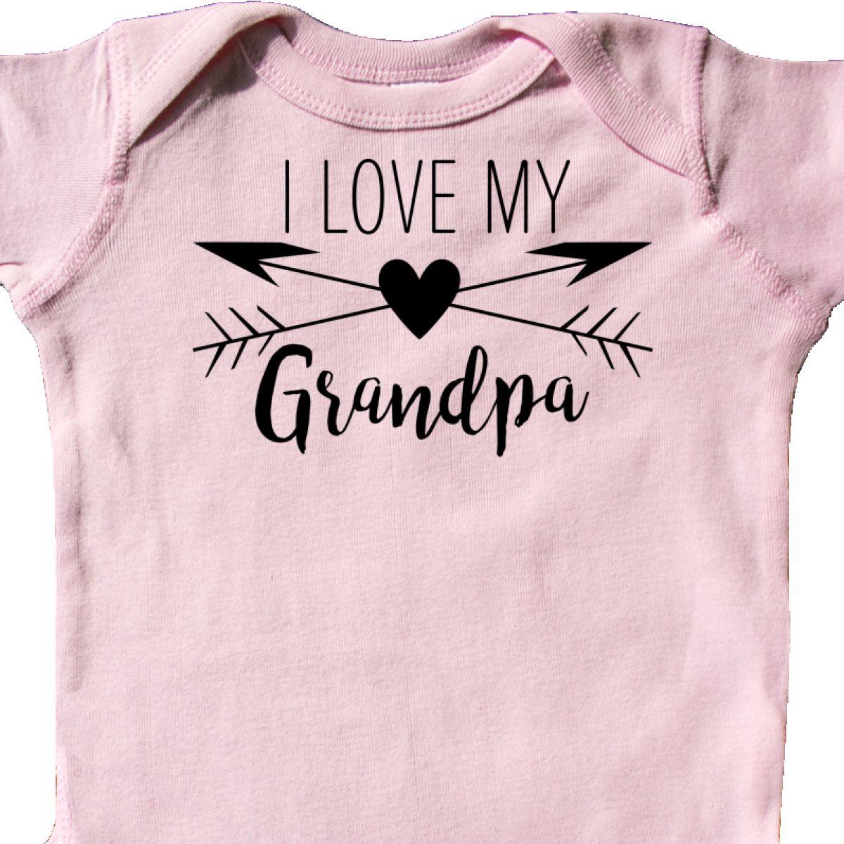 Inktastic I Love My Grandpa Heart And Arrows Infant Creeper Family Arrow