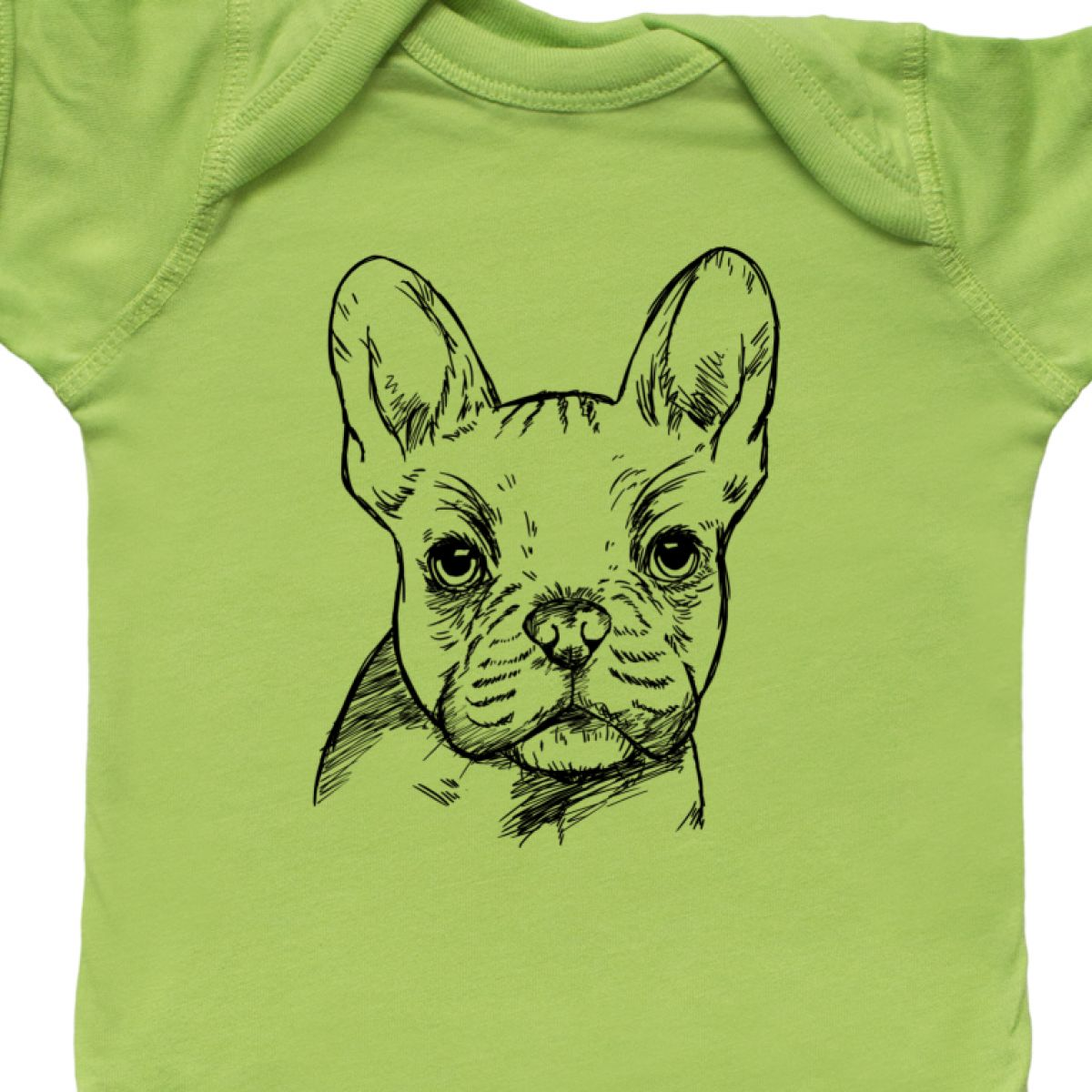 Inktastic French Bulldog Portrait Infant Creeper Pets Frenchie Dog Doggy Cute I