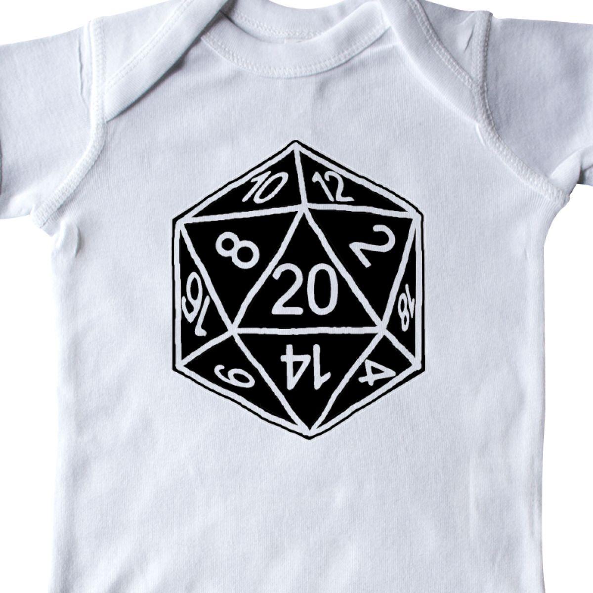 Inktastic 20 Sided Black Dice Infant Creeper D/&d Nerd Geek D20 Gamer Culture