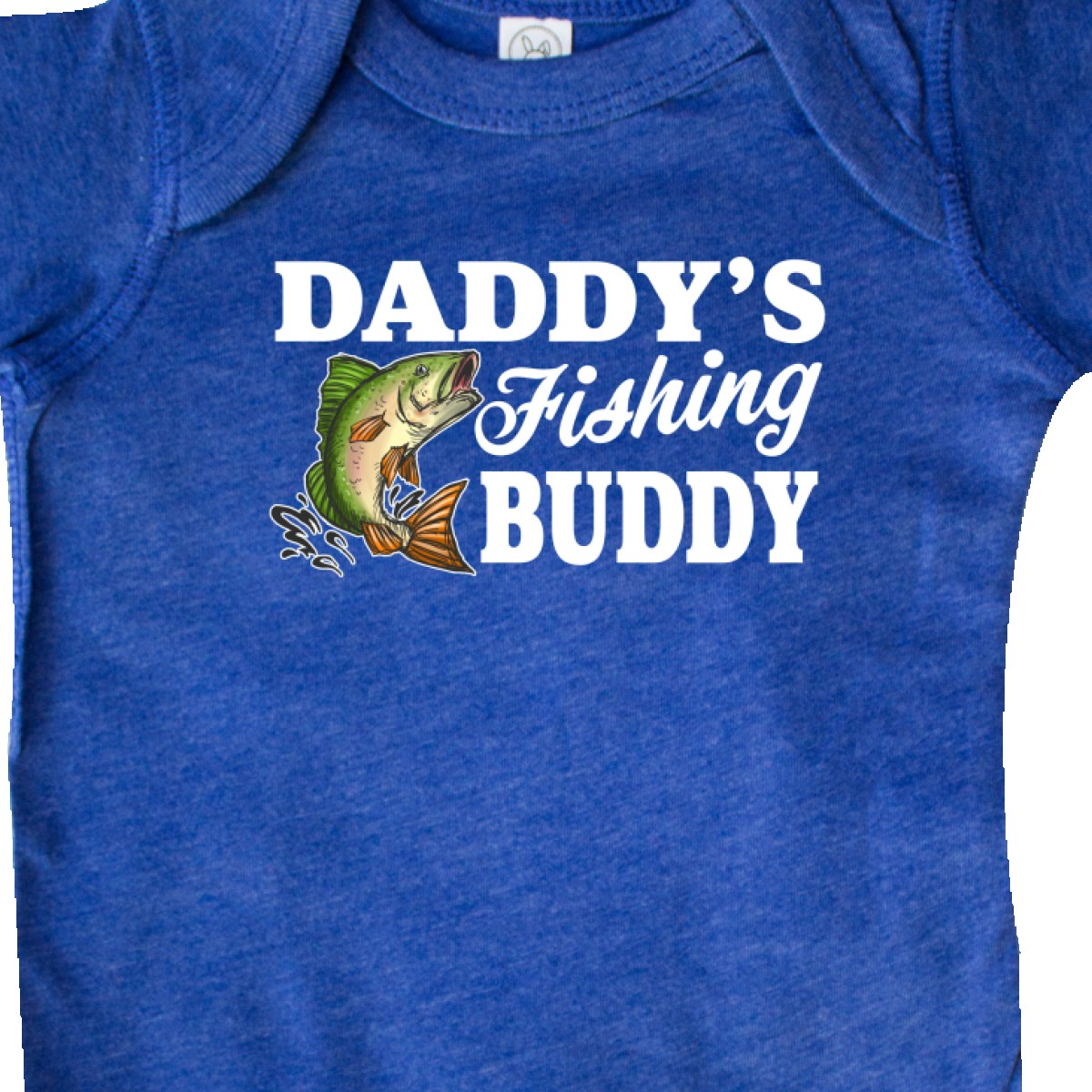 Inktastic Daddy/'s Fishing Buddy With White Text Infant Creeper Kids Little Fish