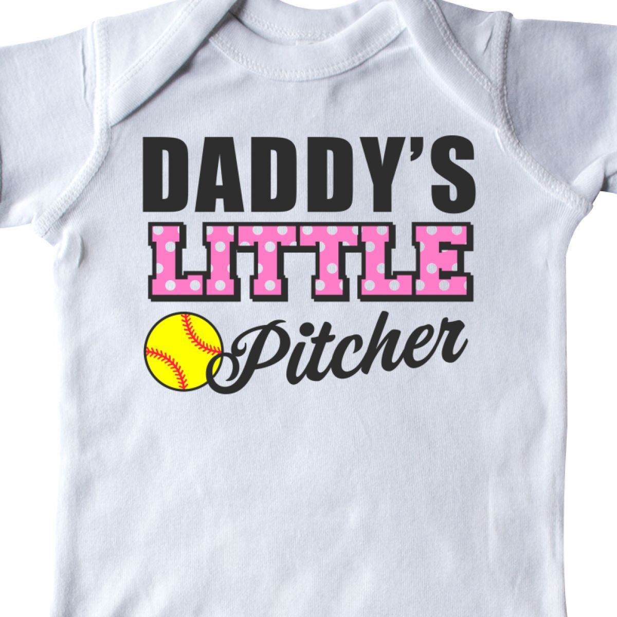 Inktastic Daddys Little Pitcher Softball Infant Creeper Sports Kids Daddy I Love