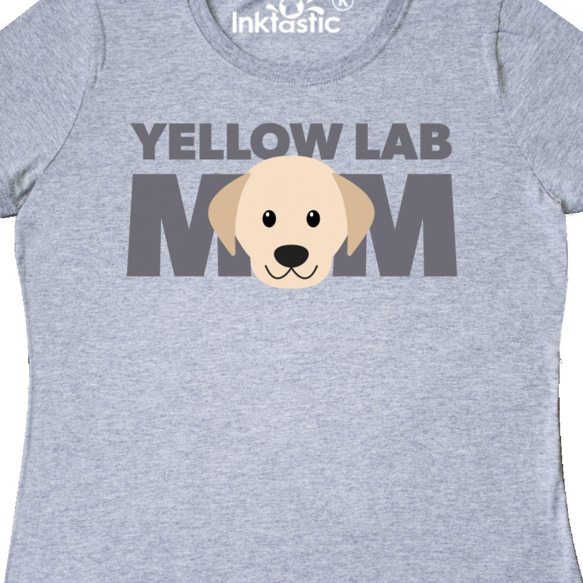 Inktastic Yellow Lab Mom Women/'s T-Shirt Pets Dog Puppy Parent Labrador Clothing