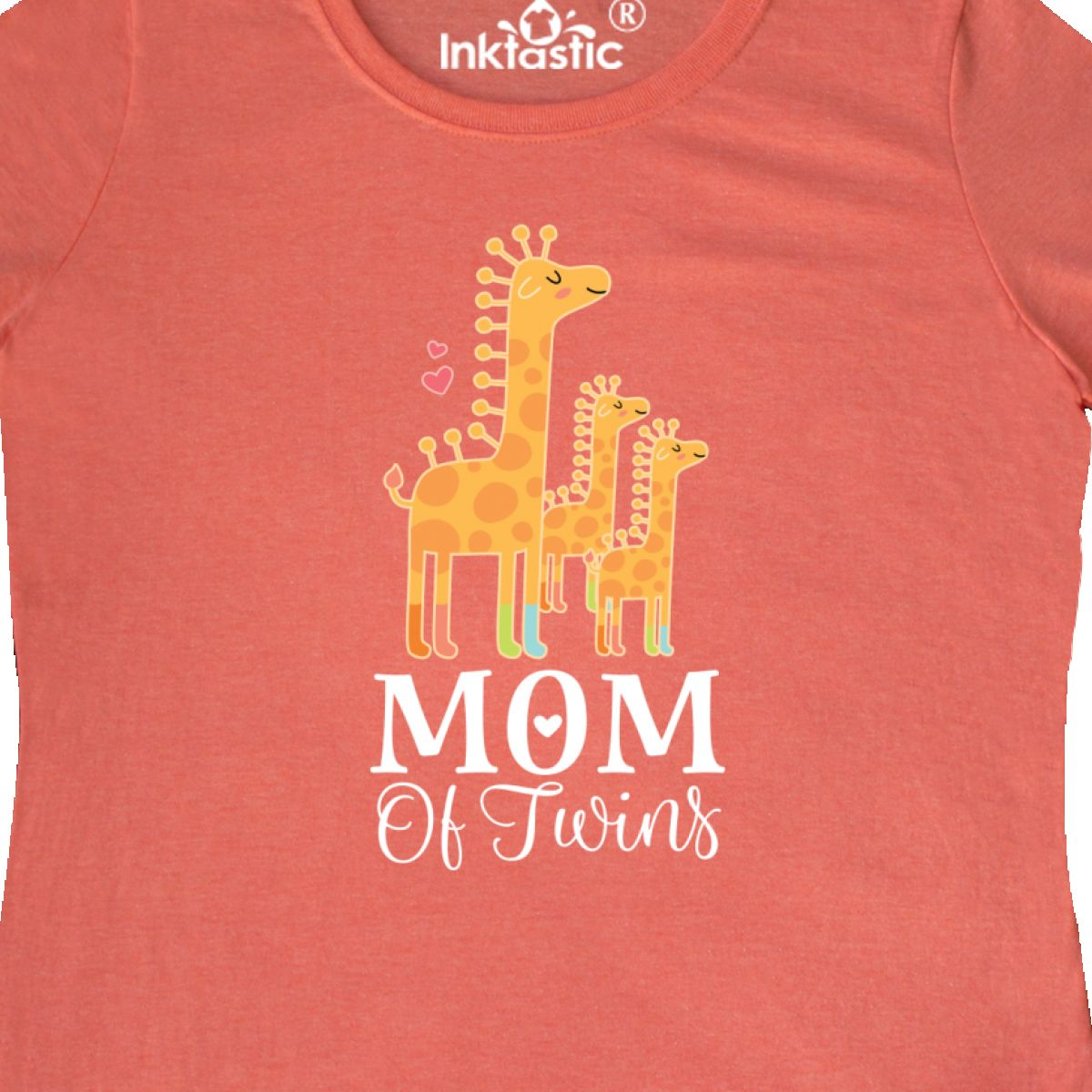 Inktastic Mom Of Twins Giraffe Women/'s T-Shirt Gift Clothing Tees Adult Hws