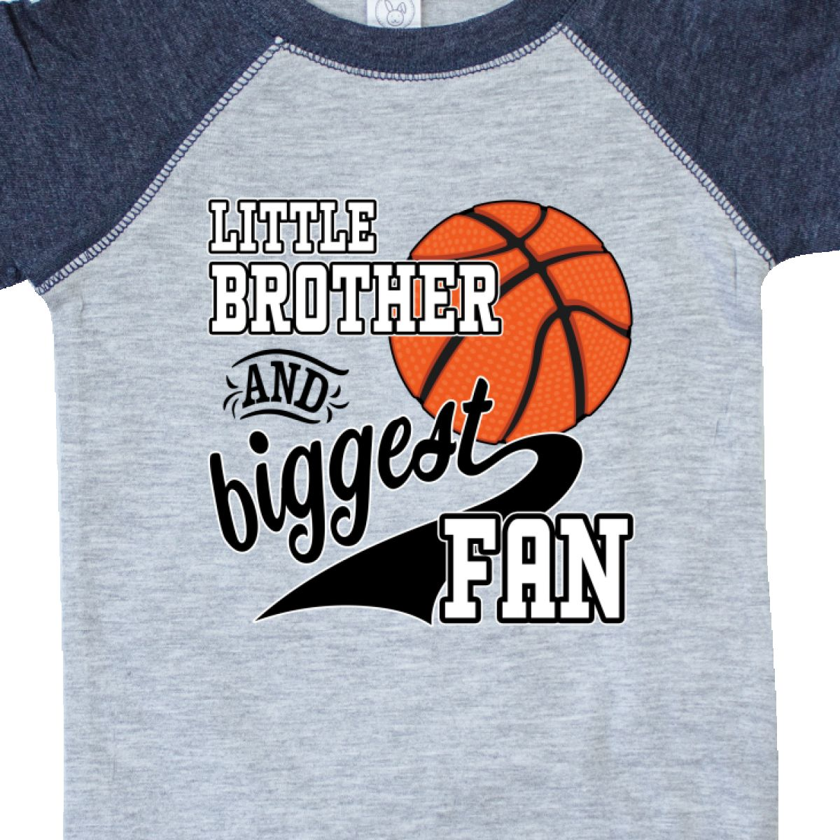 Inktastic Little Brother And Biggest Fan Basketball Player Infant Creeper Fans