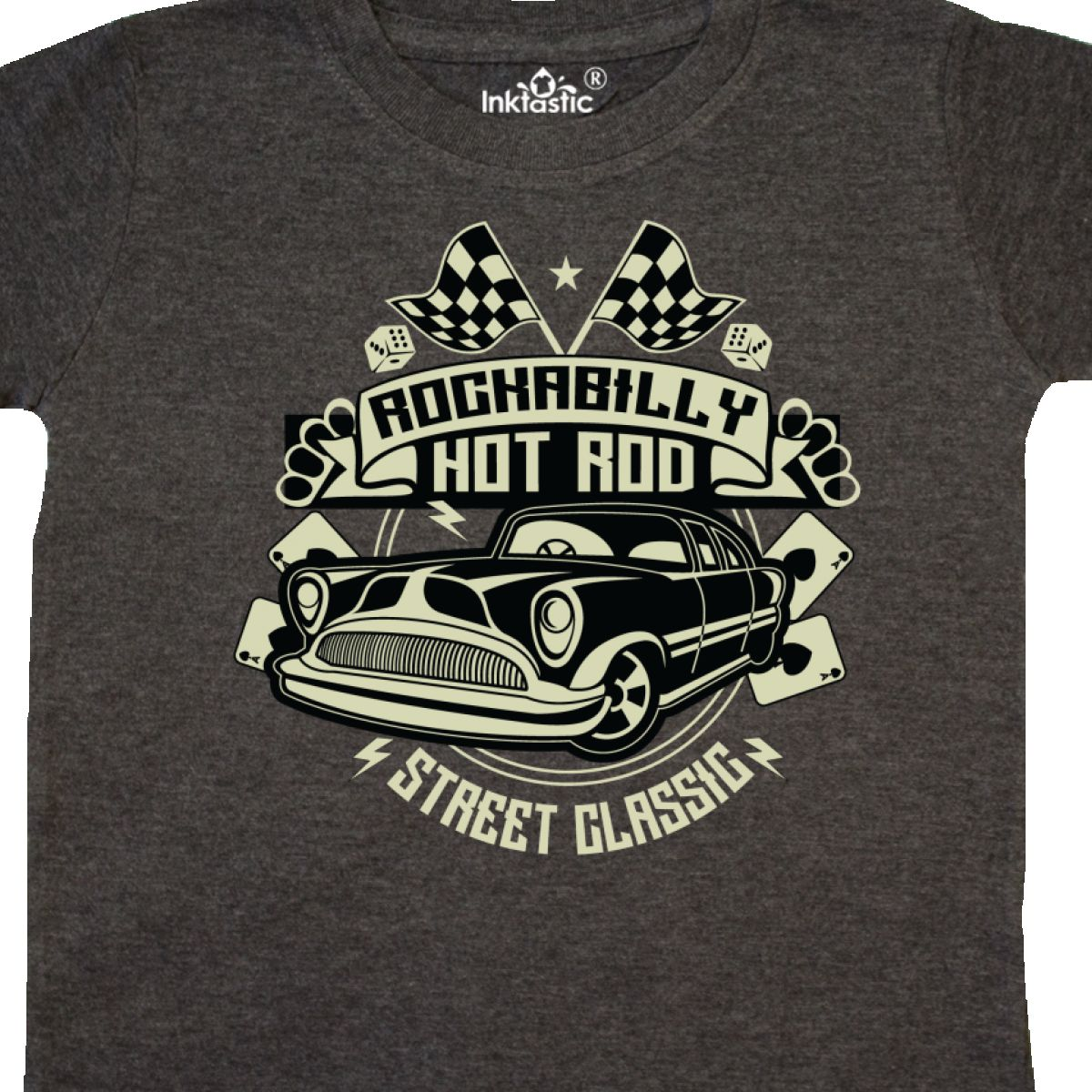 Inktastic Rockabilly Hotrod Toddler T-Shirt Hot Rod Vintage Car Racing Street