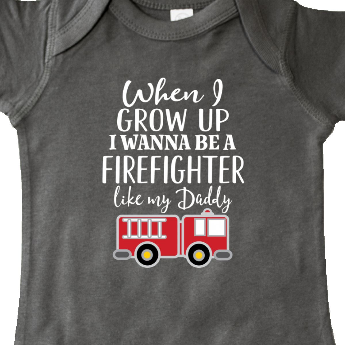 Inktastic Future Firefighter Like Daddy Infant Creeper Fireman Fire Fighter Kids