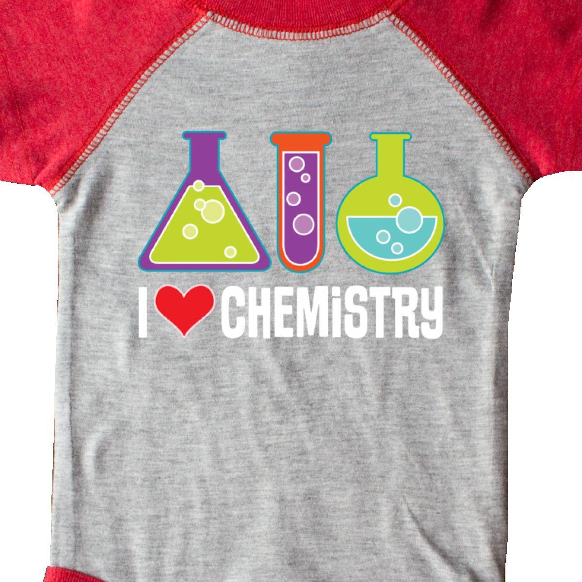 Inktastic I Love Chemistry Science Infant Creeper Chemist Biochemist Scientist