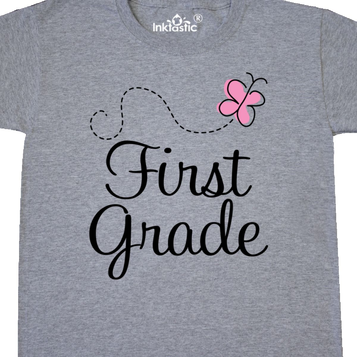 Inktastic 1st Grade School Butterfly Youth T-Shirt First Elementary Student Kids