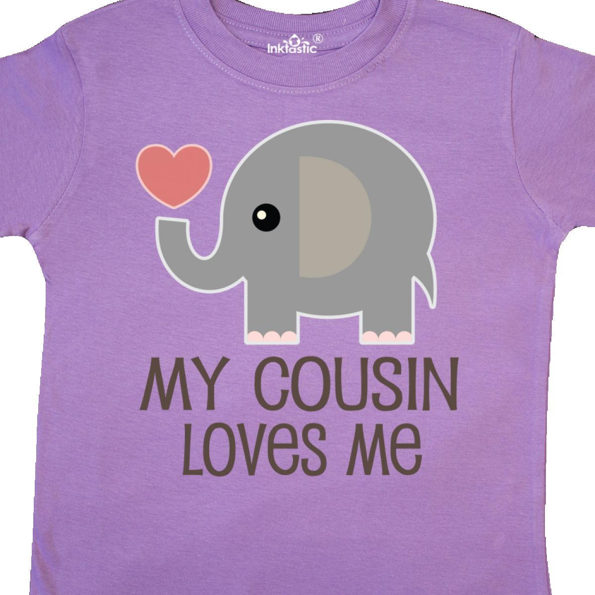Inktastic My Cousin Loves Me Toddler T-Shirt Animals Childs Boys Girls Heart For