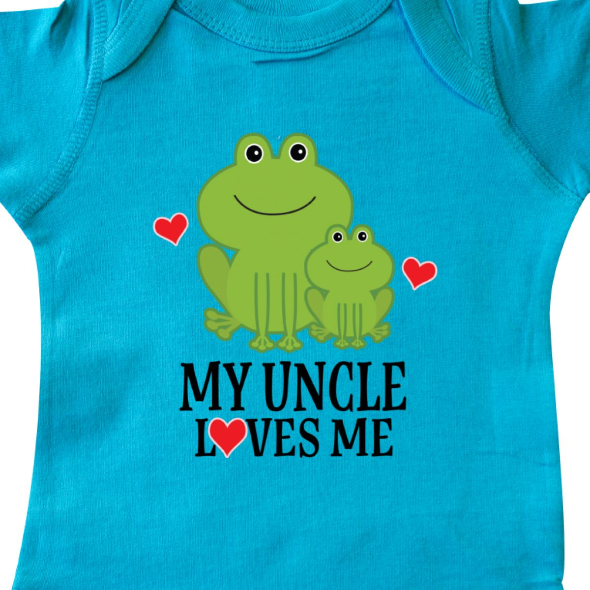 Inktastic My Uncle Loves Me Frog Infant Creeper Childs Cute Family Adorable Boys