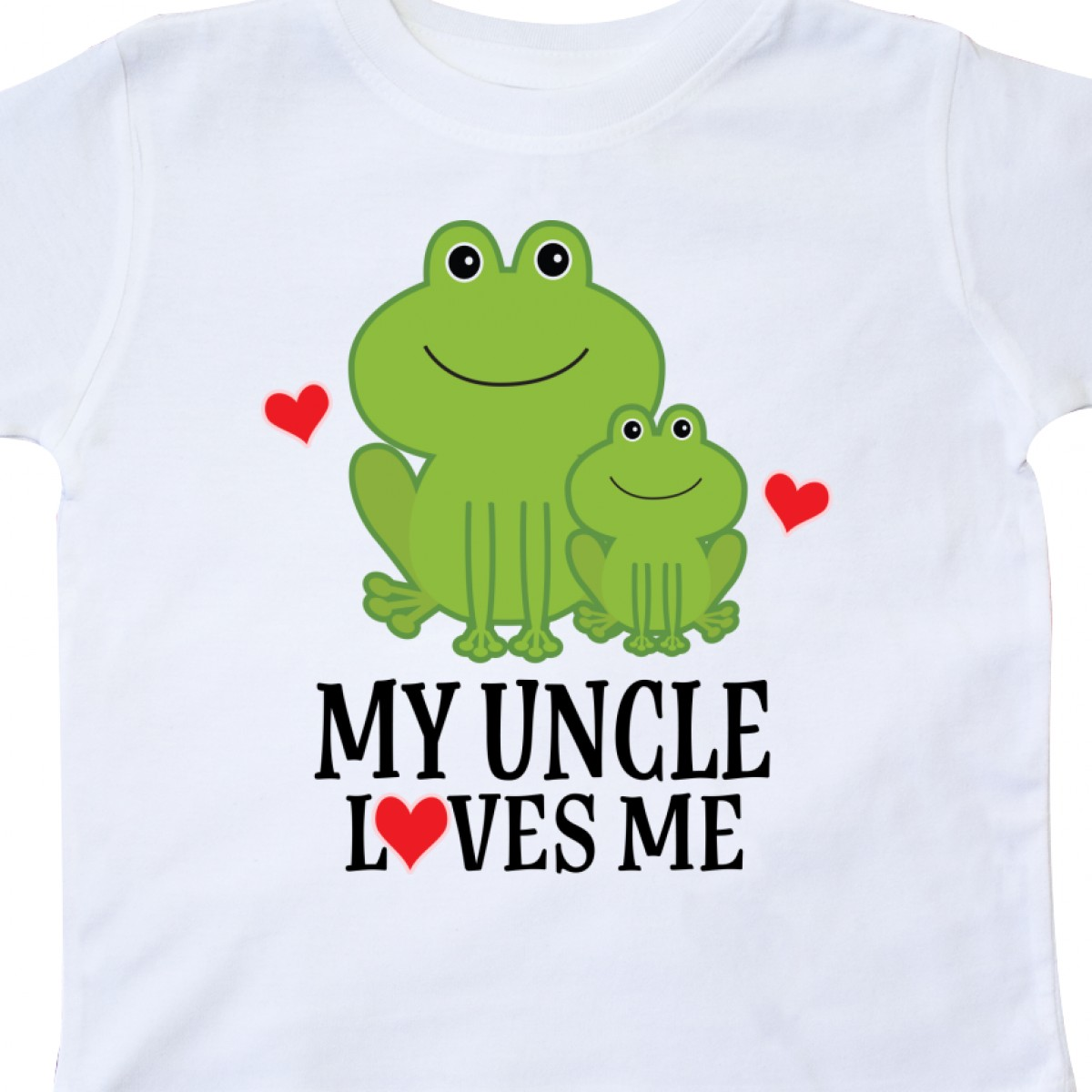 Inktastic My Uncle Loves Me Frog Toddler T-Shirt Childs Cute Family Adorable Kid